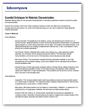 essential techniques for materials characterization labcompare