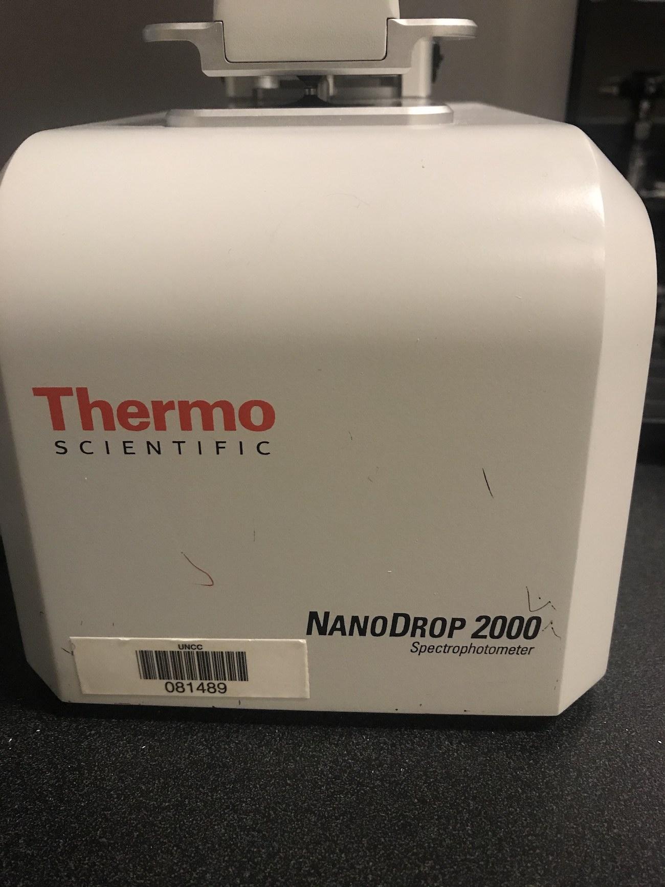 NanoDrop 2000 Spectrophotometer
